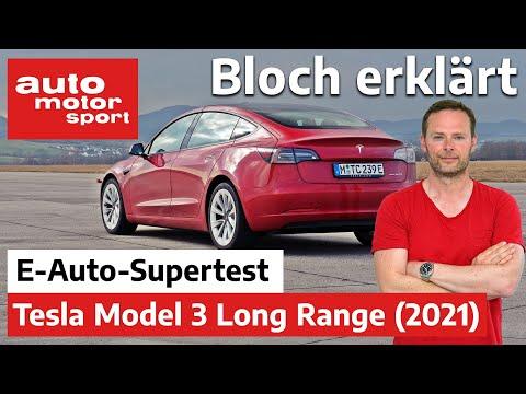Top oder Flop? Das Tesla Model 3 LR (2021) im Elektroauto-Supertest - Bloch erklärt #136 | ams