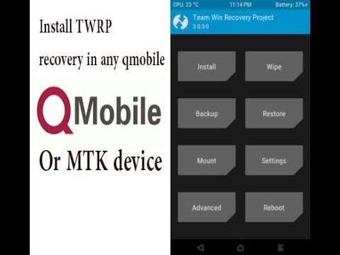How to install TWRP recovery on any qmobile or mtk device!! Updated