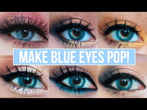 5 Makeup Looks That Make Blue Eyes Pop!   Blue Eyes Makeup Tutorial