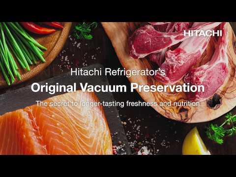 Холодильник Hitachi R-WB720VUC0GBK с вакуумной камерой Video #1