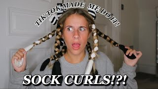HEATLESS CURLS USING SOCKS?! | Romy Morris