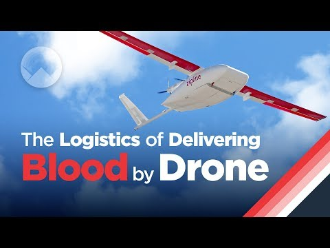 Doručování krve dronem