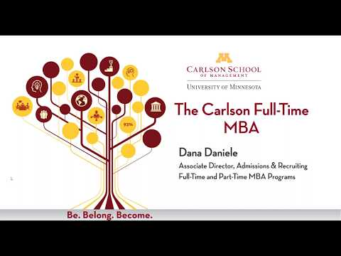 University of Minnesota – Carlson School of Management Full-Time MBA Information Session