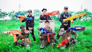 LTT Nerf War : Couple SEAL X Warriors Nerf Guns Fight Criminal Group Dr Lee Dangerous Person