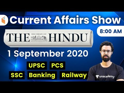 8:00 AM - Daily Current Affairs 2020 by Bhunesh Sharma | 1 September 2020 | wifistudy