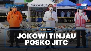 Momen Presiden Jokowi Tinjau Lokasi Evakuasi Sriwijaya Air SJ-182, Lihat Langsung Serpihan Pesawat