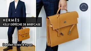 Hermès Kelly Dépêche 38 Mens Briefcase: Detailed Review & Try-on