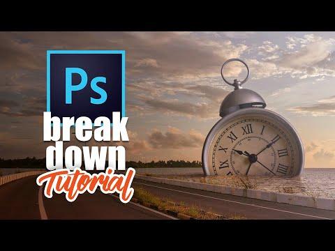 photoshop tutorial  submerged clock