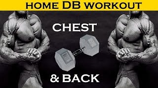 Dumbbell Chest & Back Workout at Home - Coach Ali by Coach Ali Fitness