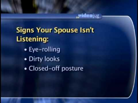 Is Your Partner Listening? Body Language Will Tell You | Dr. Sheri Meyers