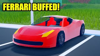 FERRARI got BUFFED! Roblox Jailbreak Update