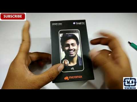 Hindi | Unboxing Of  Micromax Spark Vdeo  (8GB) 4G VoLTE | Indian Retail Unit By | Manik Singhal