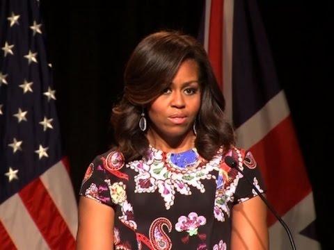 London love fest: Michelle Obama charms, thrills schoolgirls