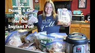 WOW! 💥22 DUMP & GO INSTANT POT FREEZER MEALS | Back to School Meal Prep