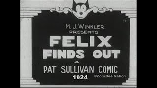 Felix The Cat Finds Out - 1924 - Video Youtube