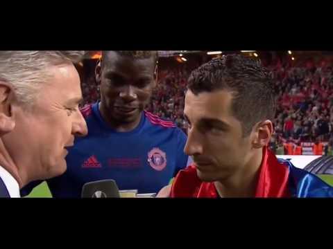 Paul Pogba & Mikhitarayan Post Match Interview  United vs Ajax 2 0