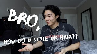 How To Style Long Mens Hair *kinda Asian Hair*