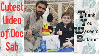 Cute Video Of Ahmad Shah and Thank you Waseem Badami