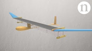 Aeronave com motor iônico sem partes móveis