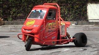 Смотреть онлайн Трехколесный автомобиль, на котором красиво гоняют
