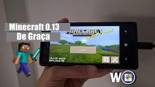 Como baixar minecraft 0.13 de graça no Windows Phone 8.1 e 10 sem pc