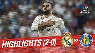 Resumen de Real Madrid vs Getafe CF (2-0)