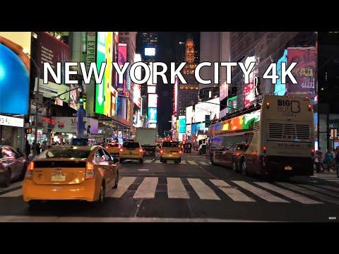 Drive 4K - Times Square Night - New York City USA