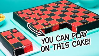 Playing Chocolate Checkers On A CAKE! | How To Cake It with Yolanda Gampp