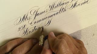 Envelope calligraphy - Copperplate & modern script by Suzanne Cunningham