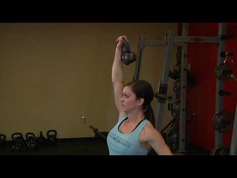 One Arm Kettlebell Split Jerk  Exercise Videos & Guides  Bodybuilding com