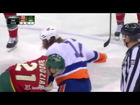 Kyle Brodziak vs. Matt Martin
