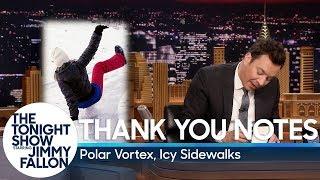 Thank You Notes: Polar Vortex, Icy Sidewalks