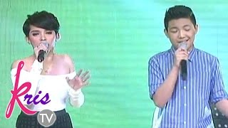 KZ and Darren belt out 'One Moment In Time' on Kris TV
