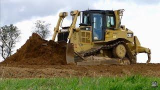 Caterpillar D6T Bulldozer at Work
