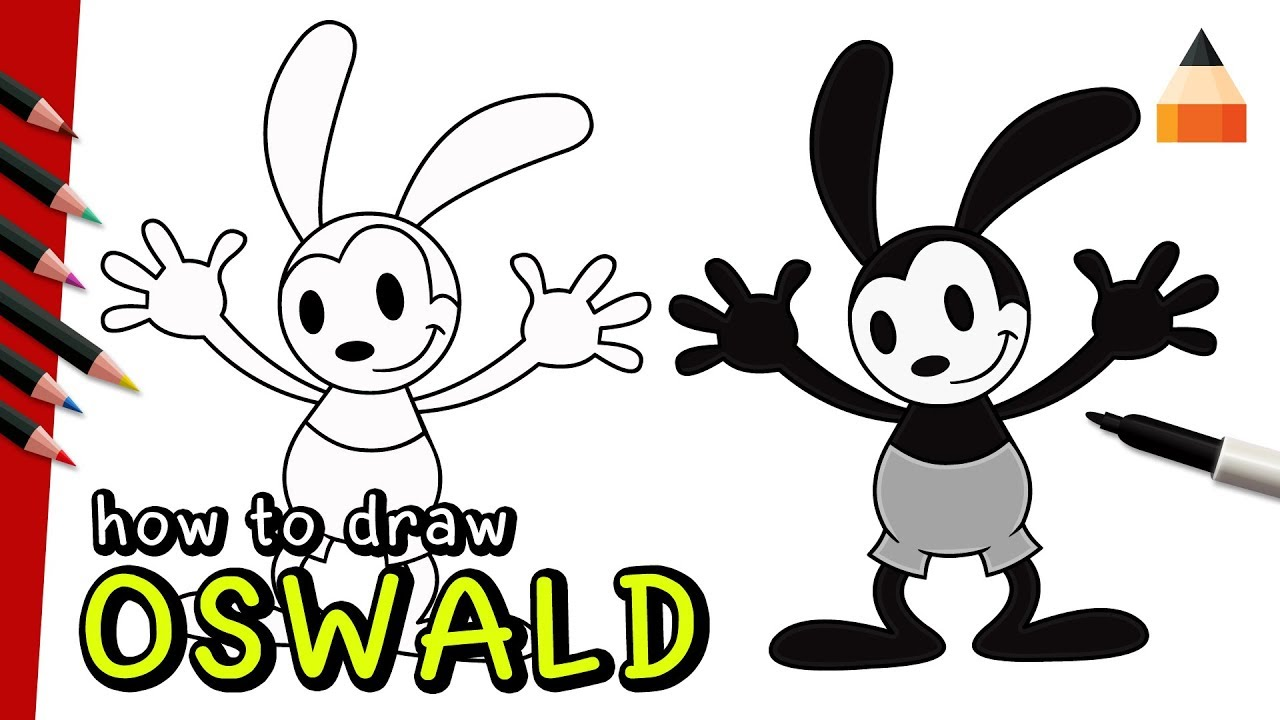 How to draw oswald the lucky rabbit watch how to draw oswald the lucky rabbit ccuart Images