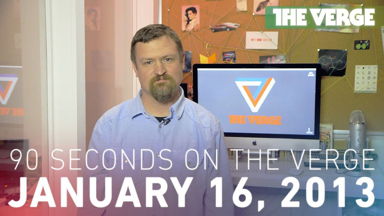 Media violence, Facebook, and more - 90 Seconds on The Verge: Wednesday, January 16, 2013 thumbnail