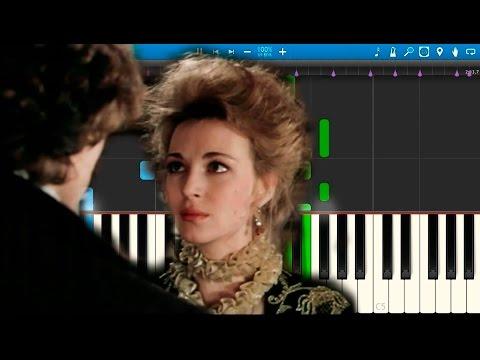 """Тема разлуки (из фильма """"Гардемарины, Вперёд!"""") (на пианино Synthesia)"""