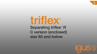 Separating Triflex® R C version enclosed size 60 and below