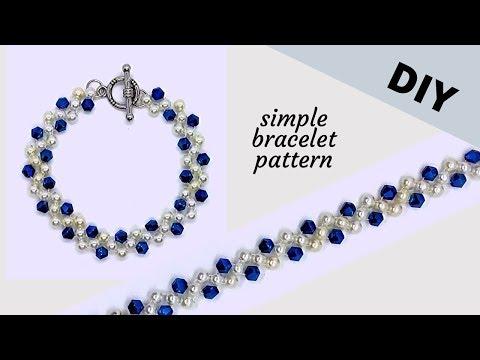 10 mins diy bracelet. simple beading pattern for beginners
