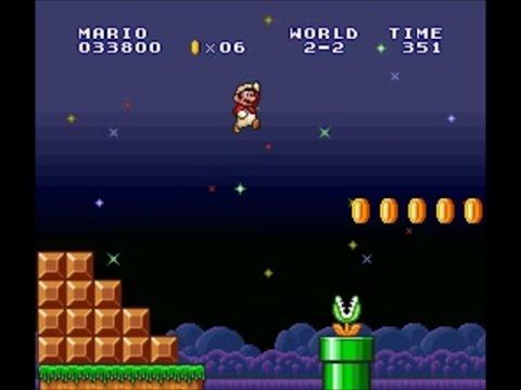 Super Mario Bros 2 Allstars(The Lost Levels)- world 2-2