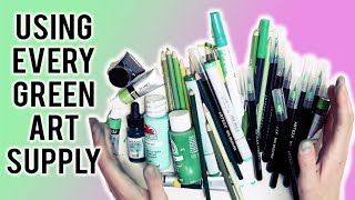 Using EVERY Single GREEN ART SUPPLY I Own