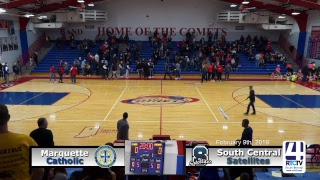 IHSAA Class 1A Girls Basketball Regional #13 @ Caston - South Central vs Marquette