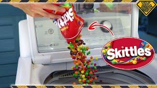 Skittles + Washer Machine = Tie-Dye Clothes?