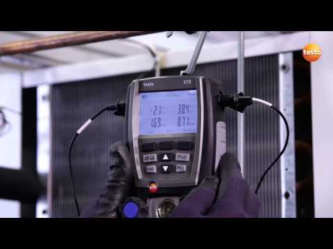 Utilisation d'un analyseur froid électronique testo 570 sur une installation frigorifique