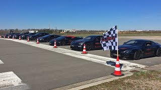 HUGE DRAG RACE WITH 10 CARS! Aventador, C63, M3, RS6, Huracan