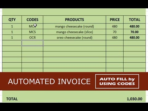 How to Create a Simple and Auto Fill Invoice in Excel