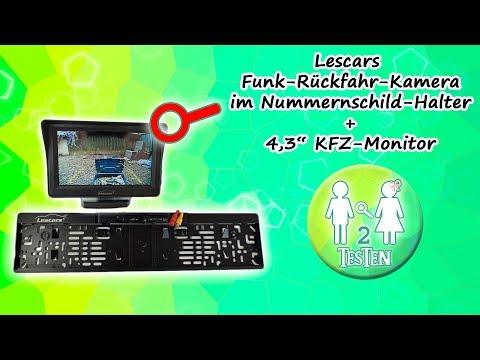 Lescars Funk-Rückfahrkamera im Nummernschildhalter integriert | Unboxing, Montage, Maße, Test