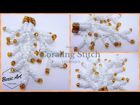🔰 Coraling Stitch-Beaded Earrings and Necklaces | How To Tutorial