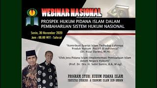 WEBINAR NASIONAL PROGRAM STUDI HUKUM PIDANA ISLAM