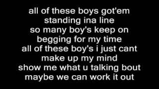 Jasmine V All These Boys Lyrics
